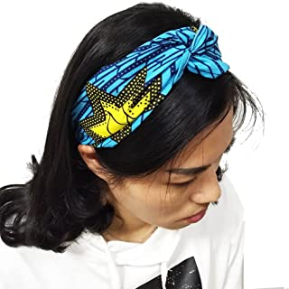 HongyuAmy Elastic Africanprint Wax Turban Twist Headband Fashion Yoga Exercise