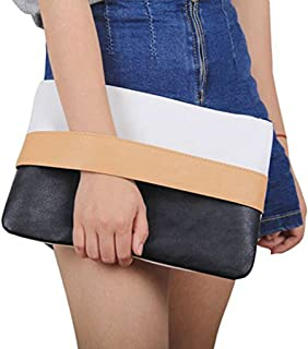 Unique Patchwork Design Women's Clutch Handbag Wristlets for Beach Holiday Travel