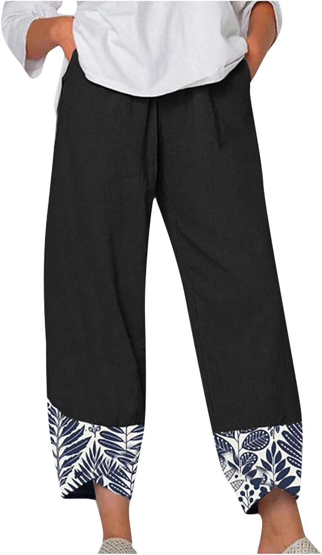 ZEFOTIM Women's Linen Pants Casual Import NEW Waist Elastic Wide Leg Loose