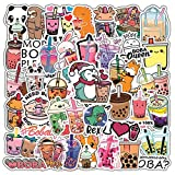 Bubble Tea Stickers for Water Bottles 47 PCS,Cute Stickers for Teens,Girls,Adults - Perfect for Waterbottle,Laptop,Phone,Hydroflask