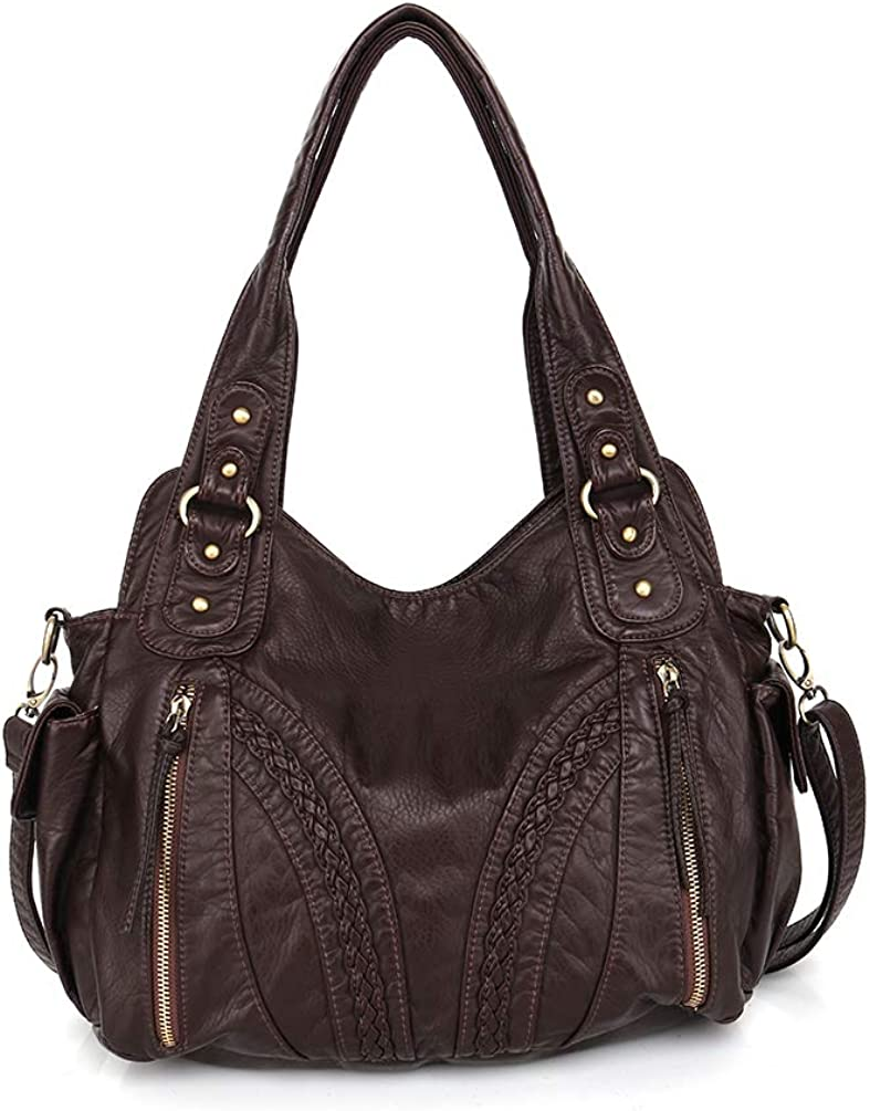 Japan's largest assortment Montana West Handbags for Women Leather Bags Excellent Washed Conceal Hobo