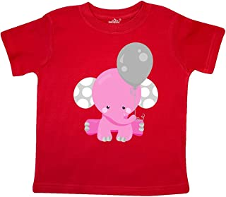 inktastic Little Gray Elephant Holding a Pink Balloon Long Sleeve Creeper