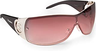 Large Casual Shield Sunglasses For Women - Rimless Gradient Lens