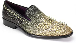 AFTER MIDNIGHT 6860 Mens Smoker Shoe with Fading Glitter and Spikes