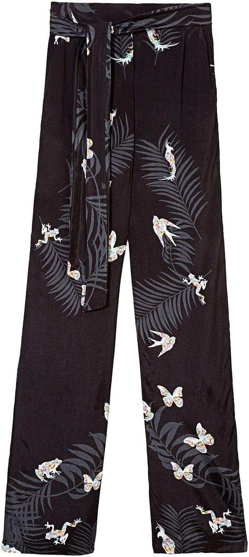 Desigual Women's 18SWPW27BLACK Black Viscose Pants