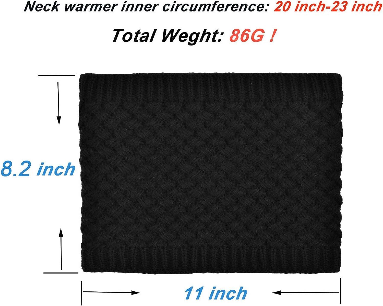 Jormatt Double-Layer Thick Neck Warmers Fleece Heat Insulated Thermal Neck Gaiters Winter For Men Women