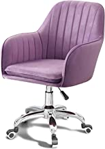 Office Chair Height Adjustable with Wheels/Armrests Leather Office Chair Home Computer Executive Chair on Wheels 360° Swiv...