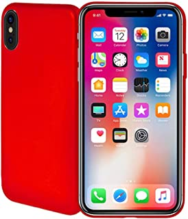 Apple iPhone X Fashion Case Soft TPU Back Case Cover - Red