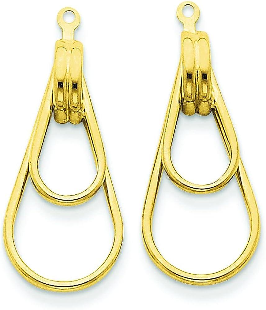 14K Gold Double Teardrop Earring Jackets Jewelry