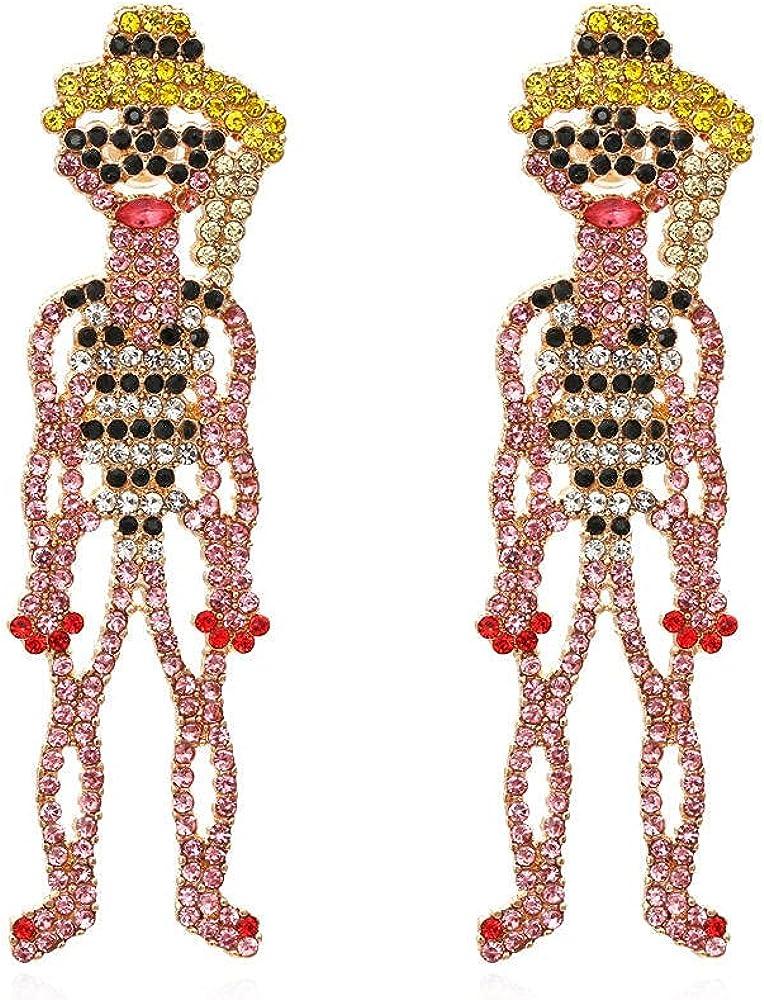 Cuff Earrings Full Diamond Cartoon Earrings Hollow Diamond Earrings Earrings
