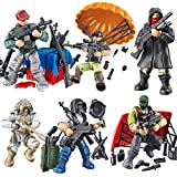YEIBOBO ! Special Forces 2inch Mini Action Figure with Military Weapons and Accessories - 6pcs Packed (Jedi Survival Series XJ-812)