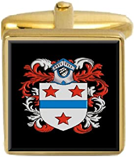 Select Gifts Poore England Family Crest Coat Of Arms Heraldry Cufflinks Box Set Engraved