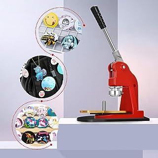 ETE ETMATE Button Maker Machine, Upgraded Rotary Base Button Machine 37mm 1.5 Inch Button Maker Pin Punch Aluminum Frame 6...