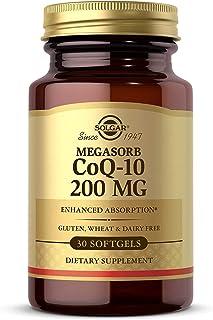 Solgar Megasorb CoQ-10 200 mg, 30 Softgels - Supports Heart & Brain Function - Coenzyme Q10 Supplement - Enhanced Absorpti...