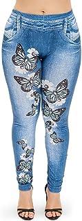 Women's Butterfly Print Leggings,Stretch Butt Lift Yoga Leggings Tights