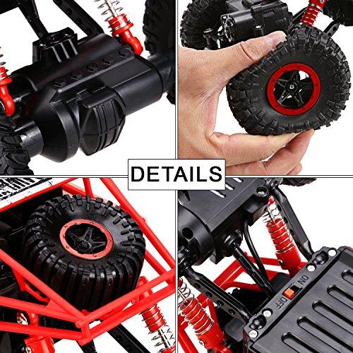 RC Auto kaufen Crawler Bild 2: s-idee HB-P1801 4WD Rock Crawler RC Car Geländewagen Auto, 1:18 Fernbedienung Monster Truck/Off Road Fahrzeug Rot*