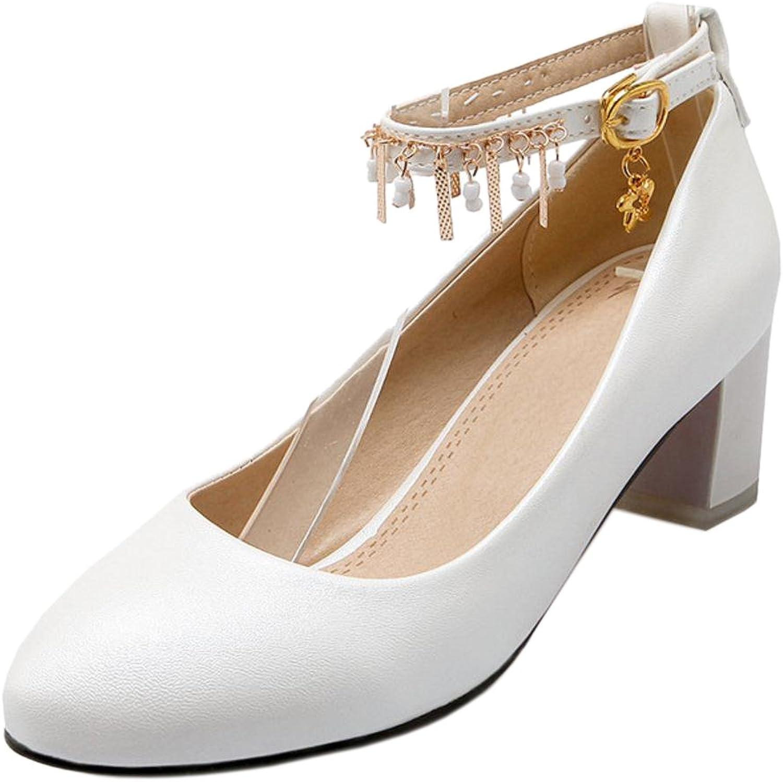 TAOFFEN Women's Ankle Strap Court shoes