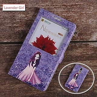 جرابات قابلة للطي - جراب K3 K5 K6 K8 K10 Note Plus A1000 A2020 A2010 A1010 S1 Lite View Window Protective Bag Print (Laven...