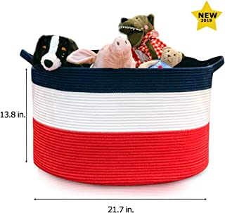 Extra Large Laundry Basket Laundry Hamper Storage Baskets Toy Storage Woven Basket Clothes Hampers for Laundry Room Organizer Clothes Hamper Bins Storage Basket Organizer Bins