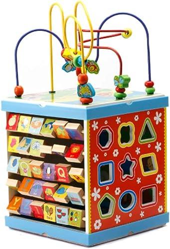 LIUFS-SPIELZEUG Größe Hexahedron Runde Perlen Schatzkiste 3-6 Jahre Alte Jungen Und mädchen Puzzle Perlen Holzspielzeug ( Farbe   Tetrahedron )