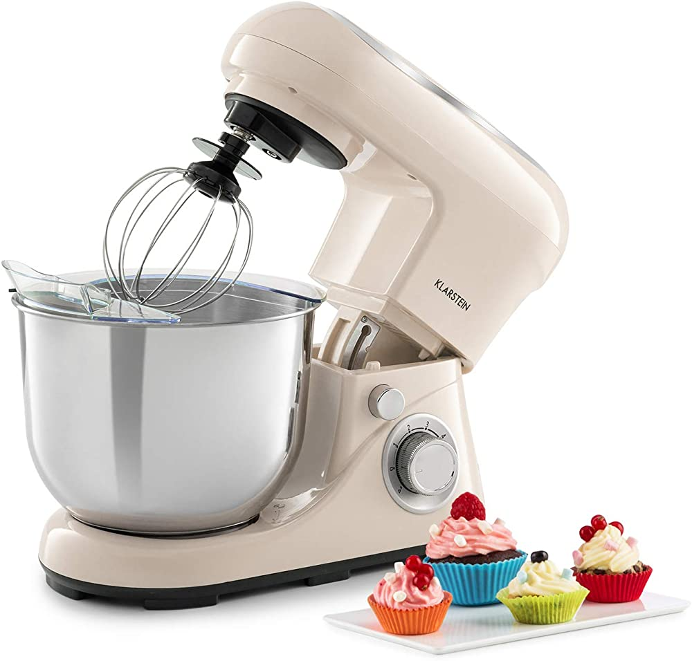 Klarstein bella pico 2g - robot da cucina, mixer, impastatrice planetaria , 6 velocita` , ciotola in acciaio TK2-90400-ella A