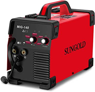 SUNGOLDPOWER MIG Welder 140A Gas and Gasless Welding 110/220V Dual Voltage IGBT DC Inverter Welding Machine Including Flux...