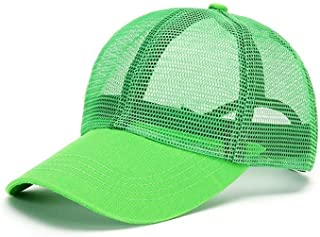 Unisex hat baseball caps Grid Breathable Spring And Summer Baseball Cap Sunscreen UV Adjustable Cap