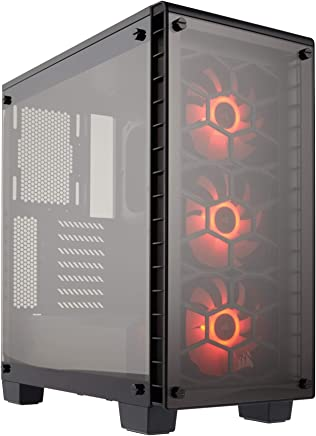 $129 Get CORSAIR Crystal 460X RGB Compact Mid-Tower Case, 3 RGB Fans, Tempered Glass - Black