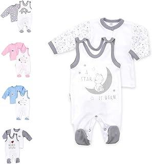 Baby Sweets Unisex 2er Baby-Set mit Strampler & Shirt als Baby-Erstausstattung für Mädchen und Jungen/Baby-Kleidung-Set aus Bio-Baumwolle für Neugeborene & Kleinkinder in verschiedenen Größen