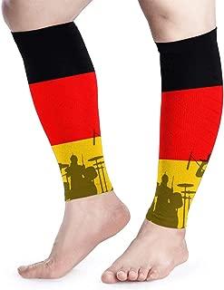 Shadidi Calf Compression Sleeve Germany Flag Music Band Calf Shin Supports Leg Compression Socks - Men Women