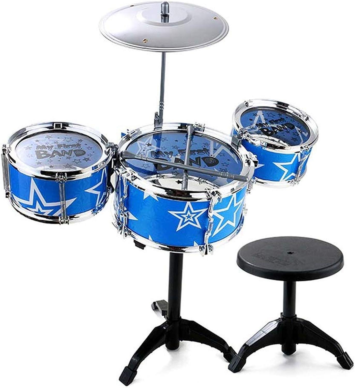 XCAT Kinder Erleuchtung Schlagzeug Einseitige Schlagzeug Spielzeug Schlagzeug 3 Jahre Alt (Farbe   bluee)