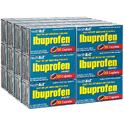 HealthA2Z Ibuprofen Tablets 200mg, 24 Packs of 30 Tablets(720 Tablets Total), Value Package
