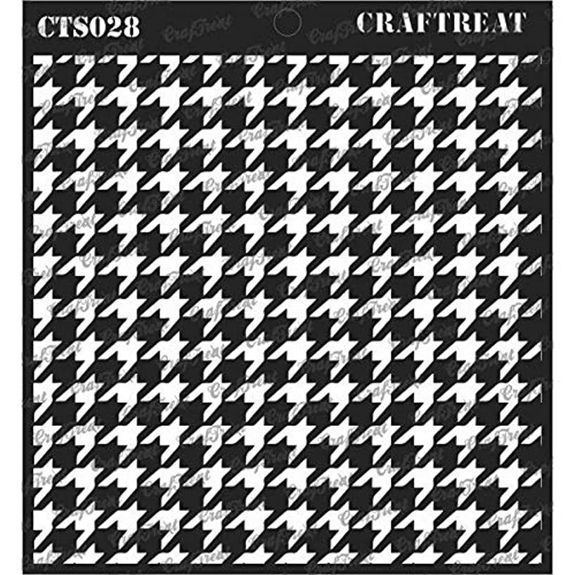 CrafTreat Stencil - Houndstooth   Reusable Painting Template for Journal, Notebook, Home Decor, Crafting, DIY Albums, Scrapbook and Printing on Paper, Floor, Wall, Tile, Fabric, Wood 6