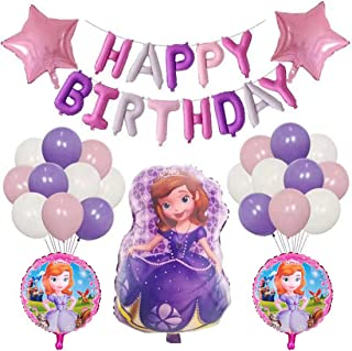SOFIA THE FIRST Happy Birthday Party Balloons Supplies for Kids Baby Shower Party Decorations