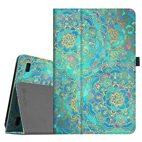 Fintie Medion LIFETAB E10501 Hülle Case - Folio Kunstleder Schutzhülle Tasche Cover Etui mit Ständerfunktion & Stylus-Halterung für Medion E10501 LIFETAB (10,1 Zoll HD) Tablet-PC, Jade