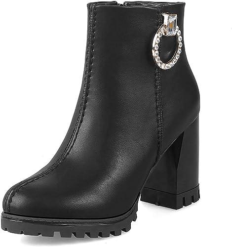 HOESCZS a estrenar Größes Grandes 31-43 PU Cuero damen schuhe damen Stiefel Occidentales Moda Tacones Altos Tobillo Stiefel damen schuhe