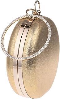 ZTDXCL Damen Clutch Bankett Hochzeit Kleid Party Tanzpartybeutel kugelförmig Handtasche Geldbörse, Gold