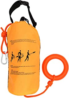 Zixar Water Rescue Throw Bag with 70/98 Feet of Rope in 3/10 Inch Tensile Strength Rated to 1844lbs, Throwable Device for ...