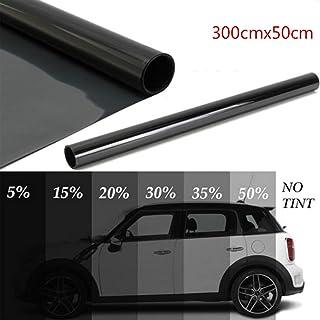 new 300x50cm Black Car Window Foils Tint Tinting Film Roll Car Auto Home Glass Summer Solar UV Protector Sticker Films (Si...