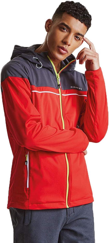 Dare 2b Mens Amnesty Windproof Softshell Jacket - Ebony Grey - 3XL