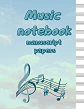 MUSIC NOTEBOOK: manuscript paper Blank Sheet Music / Notebook for Musicians /Song Writing Journal (Italian Edition)