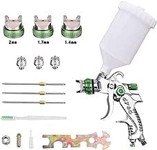 S SMAUTOP HVLP Pistola pulverizadora de aire de alta atomización Pistola de aire comprimido para automóviles Pistola pulverizadora Manual de presión gravimétrica para paredes Pintura de piso