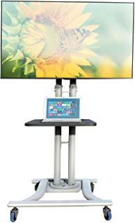 Rife Mobile TV Trolley Stand with Mount for LED LCD Plasma Flat Panel Screens (Stunning Look Silver Taiwan Made Product He...