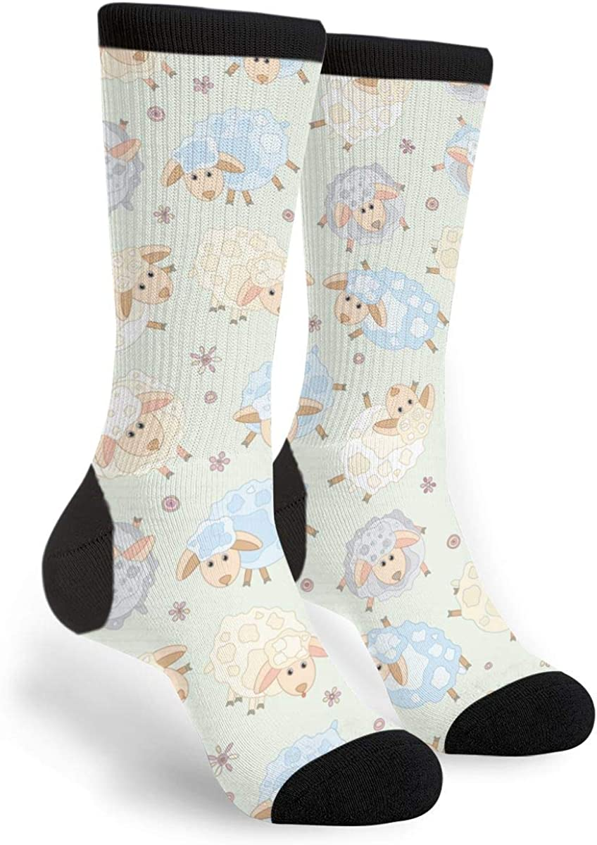 Cartoon Horse Sheep Chicken Fun Dress Socks Funny Novelty Fashion Crew Socks