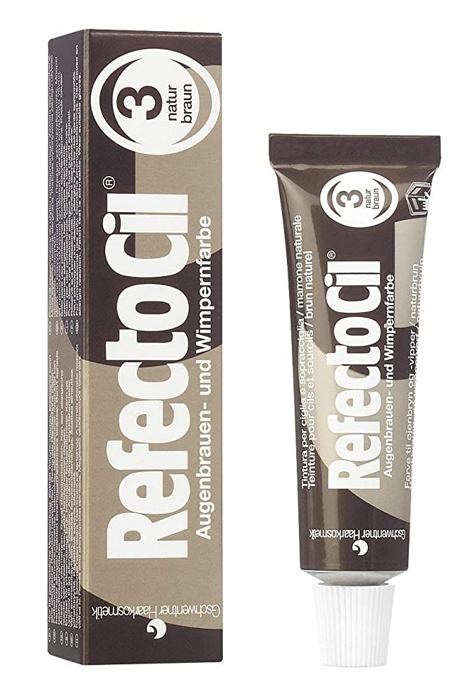 冷酷なすることになっている悪用RefectoCil Cream Hair Dye (NATURAL BROWN) .5oz by RefectoCil