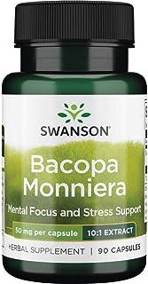 Swanson Bacopa Monniera 10:1 Extract 50 Milligrams 90 Capsules