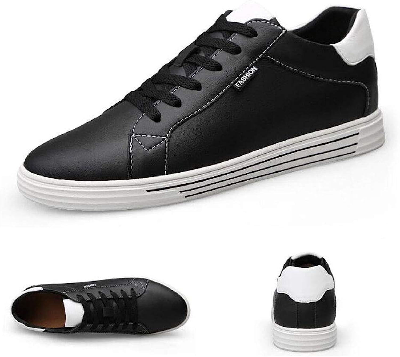 Hy Hy Hy Herrenschuhe, unsichtbare Komfortfahrschuhe, Leder-fahrende Flats-Stiefelschuhe, die mit dem Kinderschuh Laufen,schwarz,40  cad370
