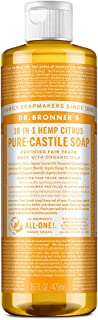 Dr. Bronner's - Pure-Castile Liquid Soap (Citrus, 16 ounce) - Made with Organic Oils, 18-in-1 Uses: Face, Body, Hair, Laun...