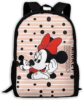 Custom Minnie Miss Mickey Casual Backpack School Bag Travel Daypack Gift