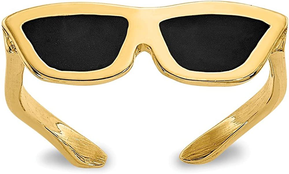 14K Yellow Gold Enameled Sunglasses Toe Ring